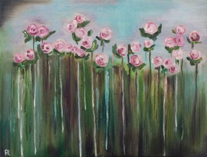 'Tea Roses', 2017, oil on canvas