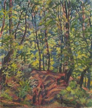 Лісовий інтер'єр, 1979, п.о. 70х60 (Знаходиться в приватній колекції Дениса Копилова)