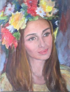 Renata, oil, acrylic on canvas, 50x40