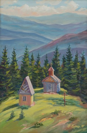 Chapel near Petros, 2015, oil on canvas, 40x60