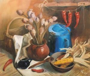 Натюрморт з кукурудзою, 2006, п.о., 60х70