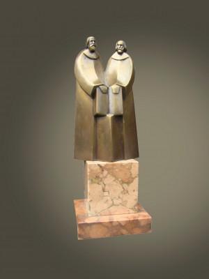 Кирило і Мефодій, 2001, бронза, мармур, 13,5х7х4,5