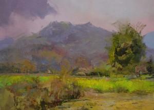 Coming Rain 2015 oil on canvas 40x55.