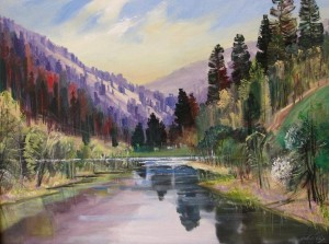 Mountain River, 2010, oil on canvas, 70x100