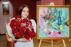 Personal exhibition of Yaroslava Katran in Berehove