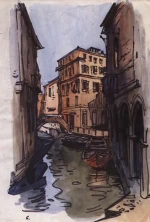 Венеція. Вечірній канал, 1964, пап. флом. акв. 34х24
