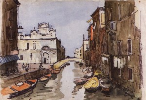 Венеція. Сонячний день, 1964, пап. флом. акв. 23,5х34
