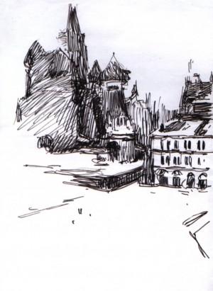 Вид на Кремль з Червоної площі, 1967, пап. флом. 31,5х22
