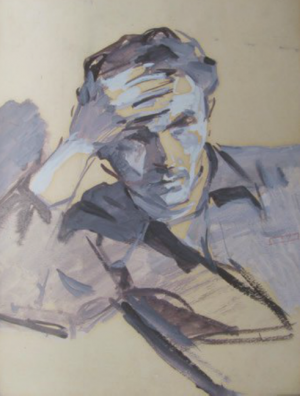 Автопортрет, 1950 р., к.о. 42x30