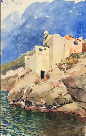 Ragusa, watercolour on paper, 24х15,3