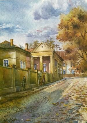 House in Krylov Street,2 1996 watercolour