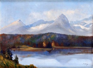 'Lake In Tatras Mountains', 1935, oil on canvas, 75x100.jpg