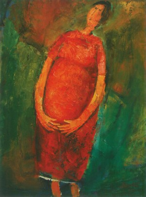 Expectant Mother, 2010, oil on canvas, 100x80