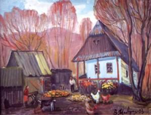 Осіннє подвіря, 2003, п.о., 60х80