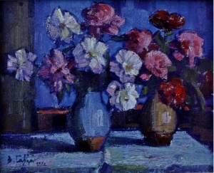 Still Life. Peonies, 1972, oil on canvas, 60x70