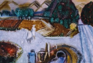 Роздоріжжя, 2002, пап.акв., 41х59
