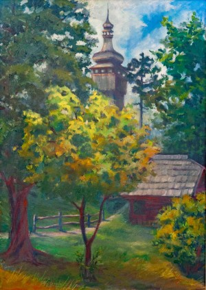 N. Kis 'Spring Museum', oil on canvas