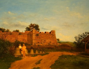 Walking To The Castle, 1994, oil on canvas, 104x137