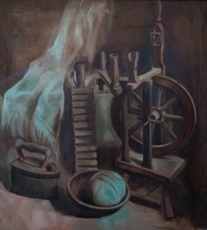 Натюрморт з куделею, 2006, п.о., 75х70
