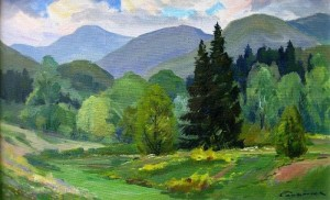 Summer In The Mountains, oil on canvas, 45х68