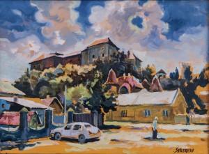 Ужгородський замок в полудень