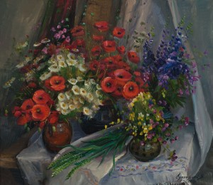 V. Svaliavchyk  'Still Life With Poppies'