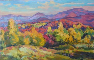 Sunny Autumn, 2007, oil on canvas, 55x85