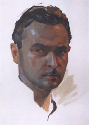 Автопортрет, кінець 1950-х, к.о. 43х30