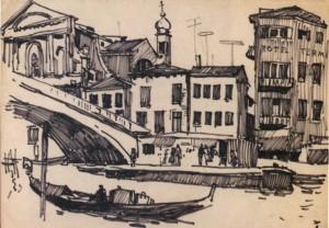 Венеція. Отель «Termi», 1964, пап. флом. 23х32,5