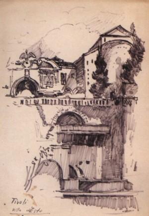 Тіволі. Villa deEste, 1964, пап. флом. 32,5х23