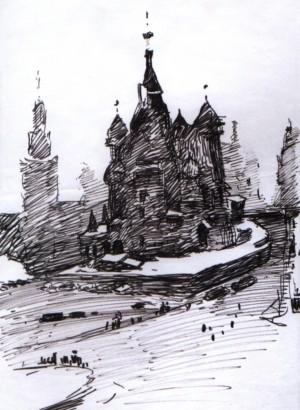 Храм Василя Блаженного, 1967, пап. флом. 31,5х22