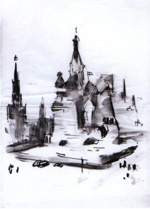 Храм Василя Блаженного, 1967, пап. флом. вуг. 31,5х22
