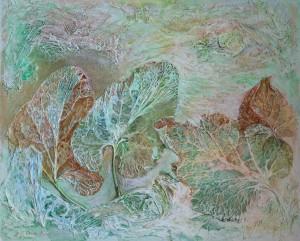 O. Dolhosh. After Sleep, 2013, acrylic on cardboard