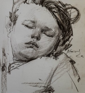V. Kohutych. Daughter`s sketch, 2016