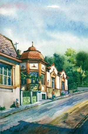 House in Luchkai Street, 13 1996 watercolour
