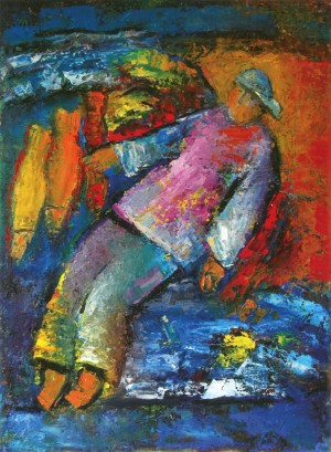 Fisherman, 2011, oil on canvas, 100x70