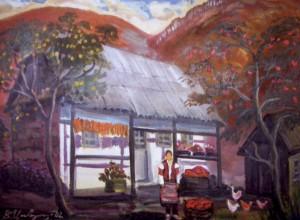 Осінь біля хати, 2002, п.о., 65х80