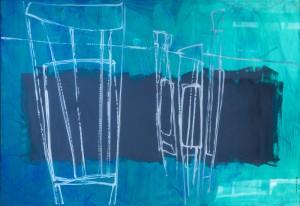 Chairs, 2015, скло, акрил, 100x150