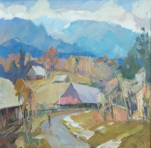 Liskovets Village, 2017, oil on canvas, 70x70