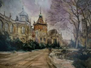 Ya. Dulenko, Castle in Budapest