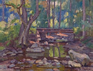 Bridge In The Forest, 1977, oil on canvas, 70x90