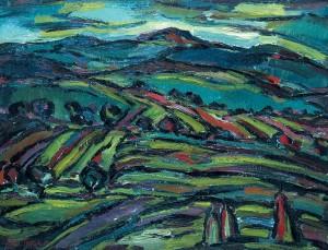 У горах, 1990, п.о., 50х60