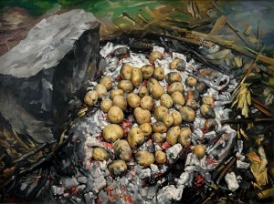 'Baked Potatoes', 2006, oil on canvas, 60x80