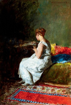 Love Letter, 1880s, oil on wood, 21x14