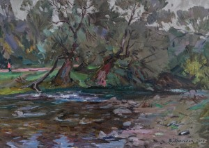 V. Krasokha. Willows. 2017. oil on canvas, 50x70