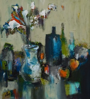 'Натюрморт з вазою', 2017
