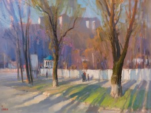 Spring Uzhhorod, 2015, oil on canvas