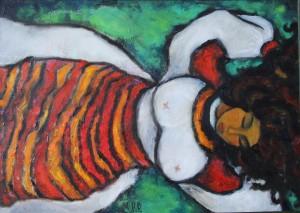 Dream, 2016, oil, acrylic on canvas, 50x70