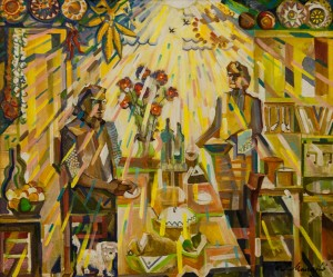 'Our Kitchen', 2010, oil on canvas