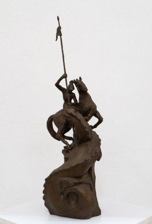 "P. Matl ""Saint George"", bronze, 63х18х16"